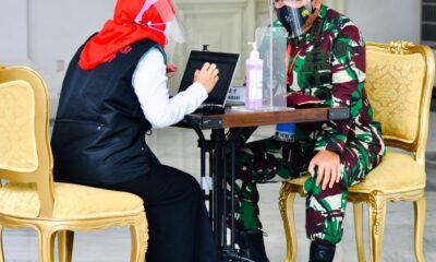 Panglima TNI dan Kapolri Ikuti Vaksinasi COVID-19 Perdana Bersama Presiden Jokowi