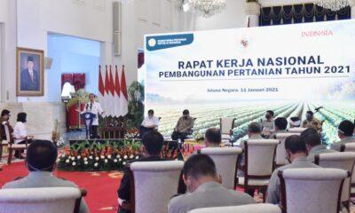 Presiden Jokowi Resmikan Pembukaan Rakernas Pembangunan Pertanian Tahun 2021