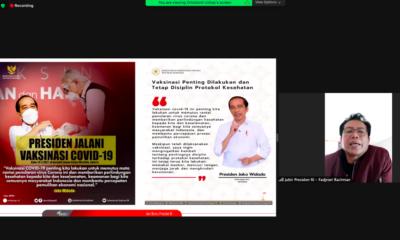 Stafsus Presiden Fadjroel Rachman Ajak Masyarakat Perangi Misinformasi & Disinformasi Terkait Vaksinasi